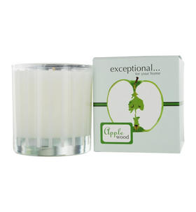 Exceptional Parfums - Apple Wood Scented Tapered Glass Jar Candle
