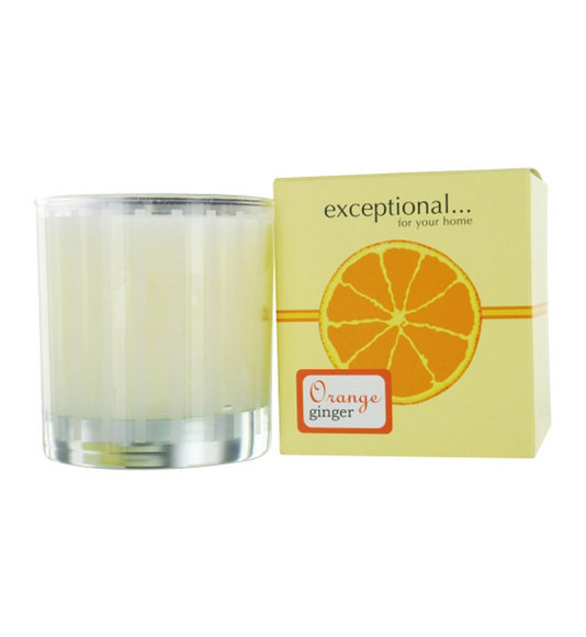 Exceptional Parfums Women  Orange Ginger Scented Tapered Glass Jar Candle
