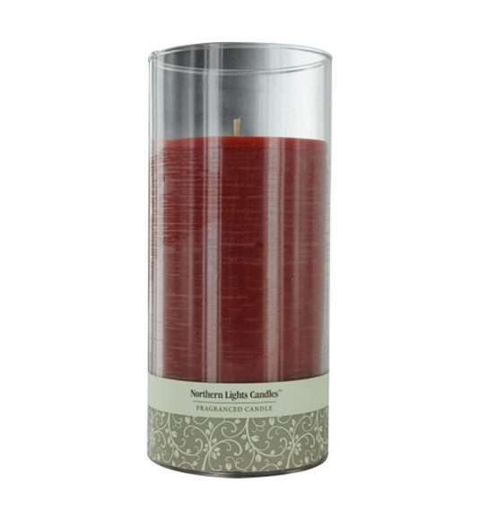 one inch glass pillar scented candle a blend