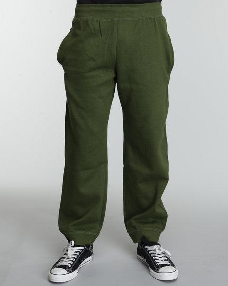 Rocawear Men Green Heavyweight Fleece Sweatpants