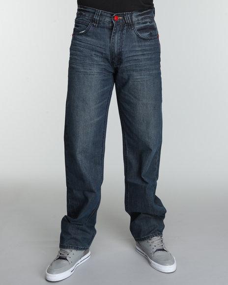COOGI Men Blue Patch Back Pocket Denim Jeans