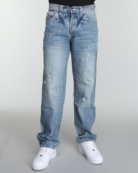 Pelle Pelle Men Blue Bello Pocket Denim Jeans