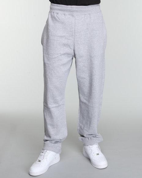 Rocawear Men Grey Heavyweight Fleece Sweatpants