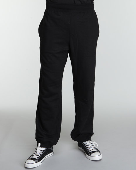 Rocawear Men Black Heavyweight Fleece Sweatpants