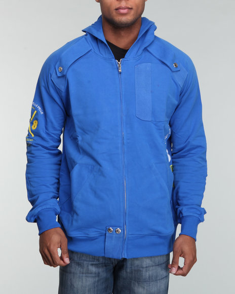 Pelle Pelle Men Blue Throwback Hoodie
