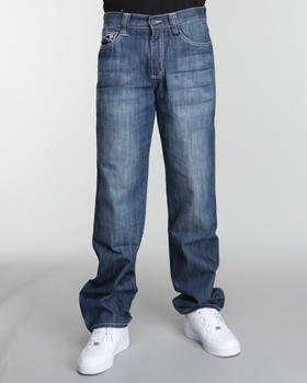 Pelle Pelle - Blue Osaka Patch Pocket denim jeans