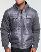 Deals-Men - Knitted patch on hoodie jacket