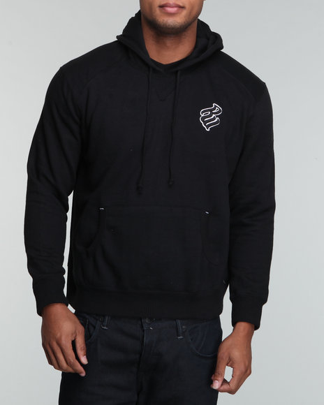 Rocawear Men Black Heavyweight Basic Pullover Hoodie