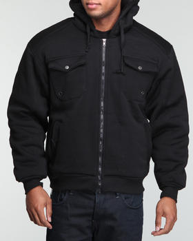 Basic Essentials - Military fleece w/flap front pocket