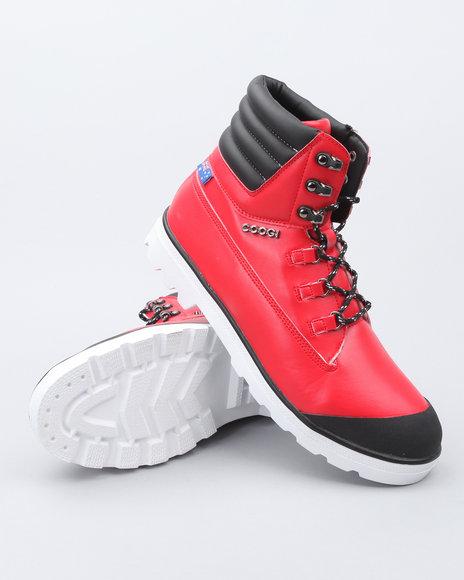 COOGI Men Red Kombat Rugged Boots