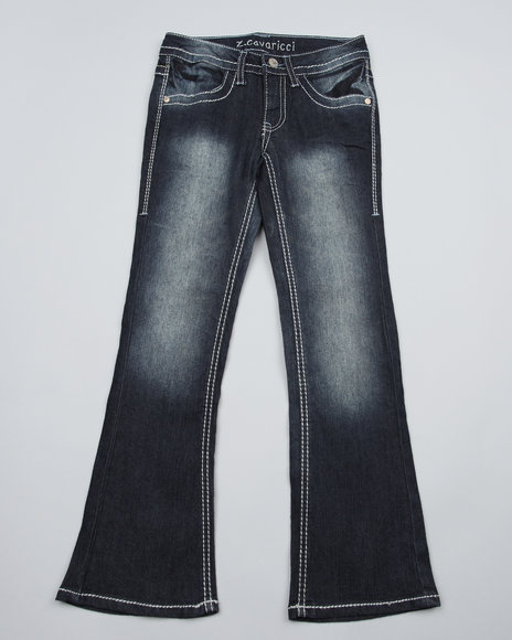 Z. Cavaricci Girls Dark Wash Z. Cavaricci Starbust Pocket Bootcut Jeans (7-16)