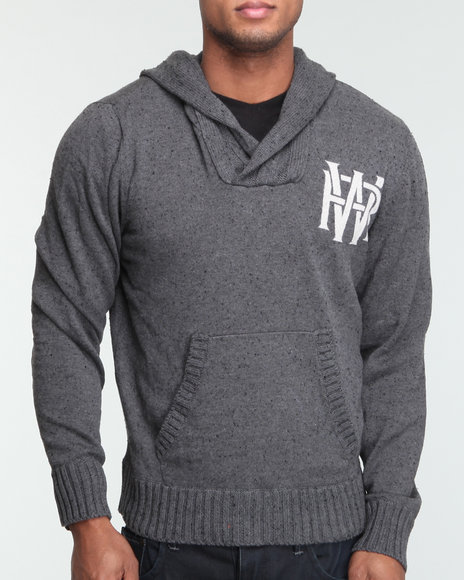 Rocawear Men Charcoal Never Change Hooded Sweater