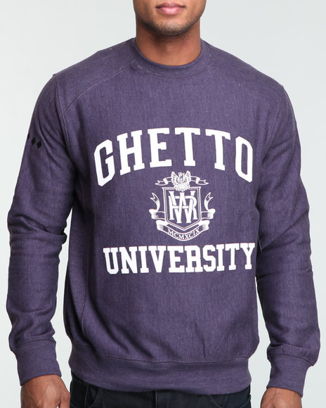 Rocawear Men Purple The Dropout L/S Crewneck Sweatshirt
