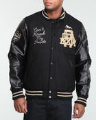 Men - Can't Knock My Hustle Wool Varsity Jacket