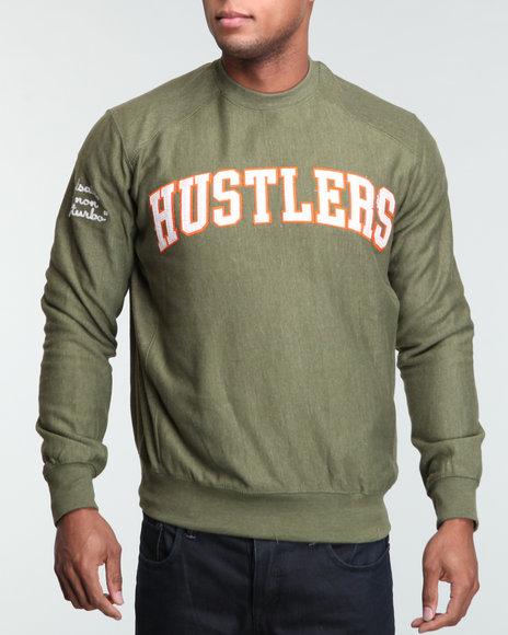 Rocawear Men Green Hustler L/S Crewneck Sweatshirt
