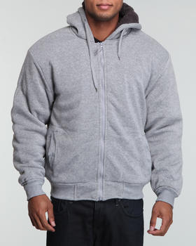 Basic Essentials - Fleece jacket w/nappa lining