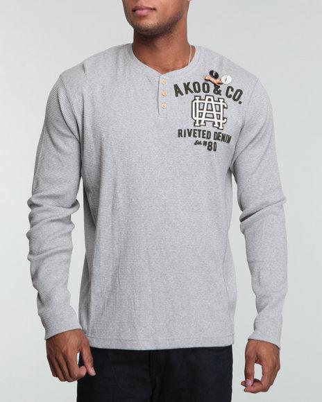 Akoo Men Riveted Henley - Shirts