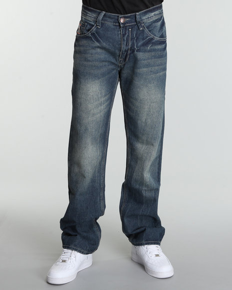 Enyce Men Dark Wash Lift Jeans