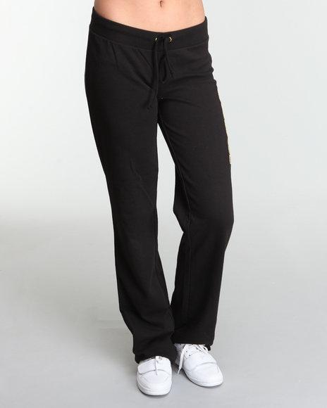 COOGI Women Black Fleece Active Pants