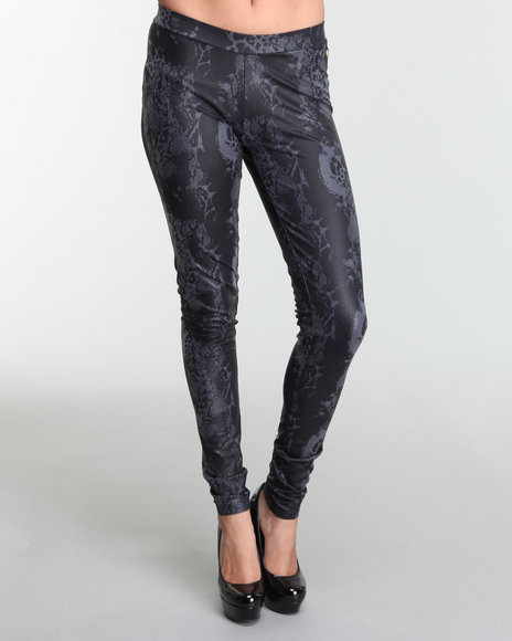 Apple Bottoms Women Grey Cheetah Printed Legging