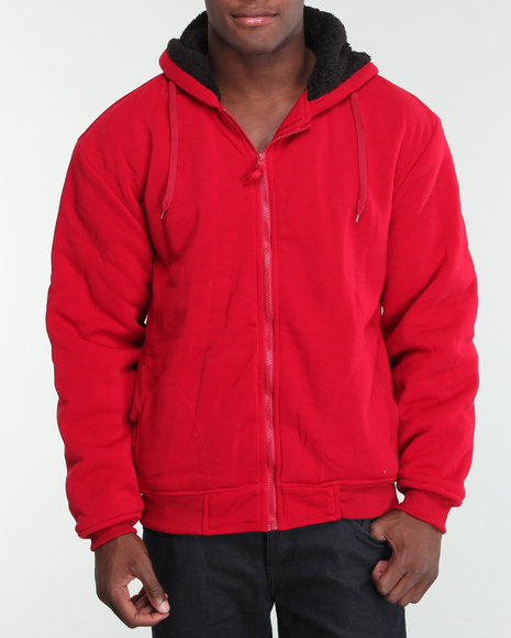 fleece jacket w/nappa lining