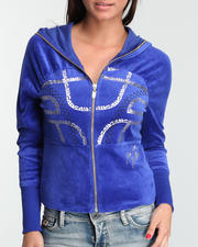 Women - Gel Printed Long Sleeve Velour Hoodie