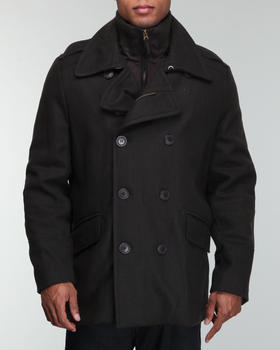 Levi's - Melton Wool Peacoat Jacket w/ knit collar