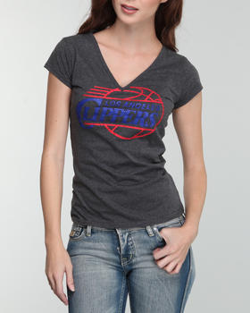 NBA MLB NFL Gear - V-Neck Clippers Tee with Stones