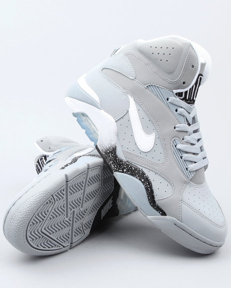Nike Men Grey Nike Air Force 180 Mid Sneakers