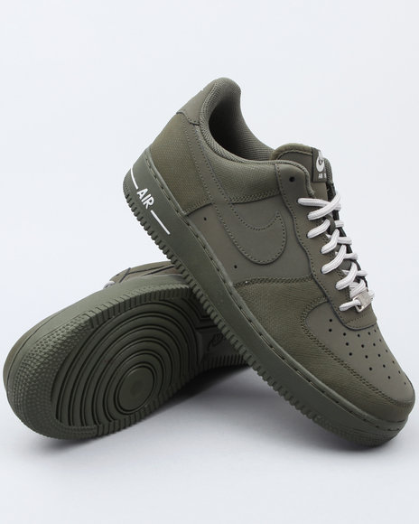 Nike Men Olive Air Force 1 Sneakers