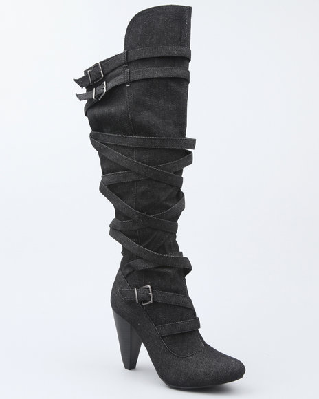 luga strappy over the knee boot