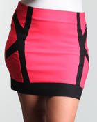 Bottoms - Color blocked detail skirt (plus)