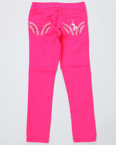 colored twill jeans (2t-4t)