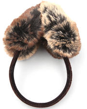 Women - Faux Fur EarMuffs w/velvet band