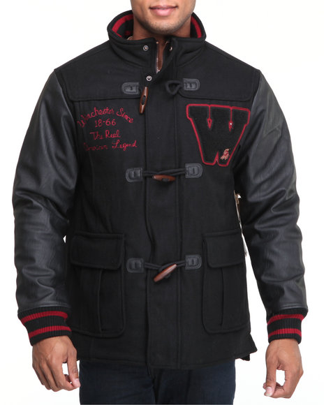 Winchester Men Black Duffle Jacket