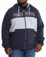 Big & Tall - Coach Color Blocked Fleece Full Zip Jacket (B&T)