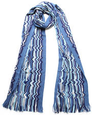 Missoni - Blue Wool Scarf