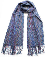 Accessories - Blue Squiggle Scarf