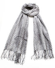 Accessories - Gray Squiggle Scarf