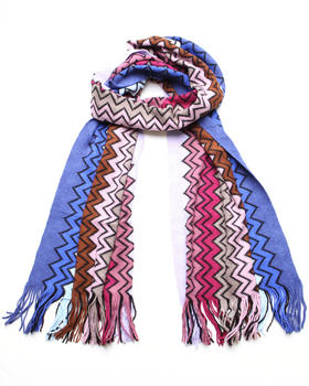 Accessories - Brown Zig Zag Scarf