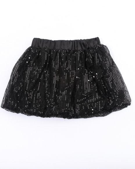 Baby Phat Girls Black Sequin Bubble Skirt (2T-4T)