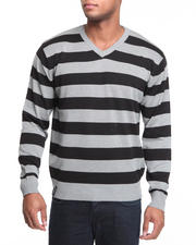 Pullover - Fredrick Striped V-Neck Sweater
