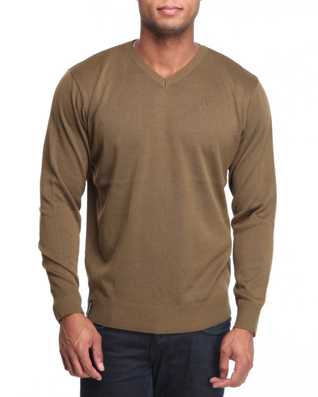 - Troy Ribbed High V-Neck Sweater