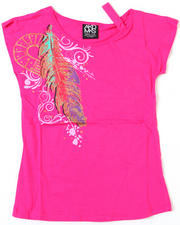 4-6X Little Girls - Feather Majestic Tee (7-16)