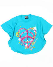 4-6X Little Girls - Peace Love Circle Tee (4-6X)