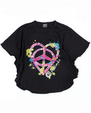 4-6X Little Girls - Peace Love Circle Tee