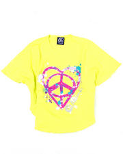 7-16 Big Girls - Peace Love Circle Tee (7-16)