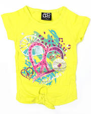 4-6X Little Girls - Pheart Tie Front Tee (4-6X)