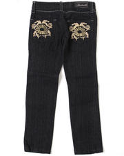Girls - Feather Swirl Jean (4-6X)