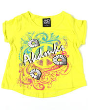 4-6X Little Girls - Peace Hippie Hi Low Tee (4-6X)